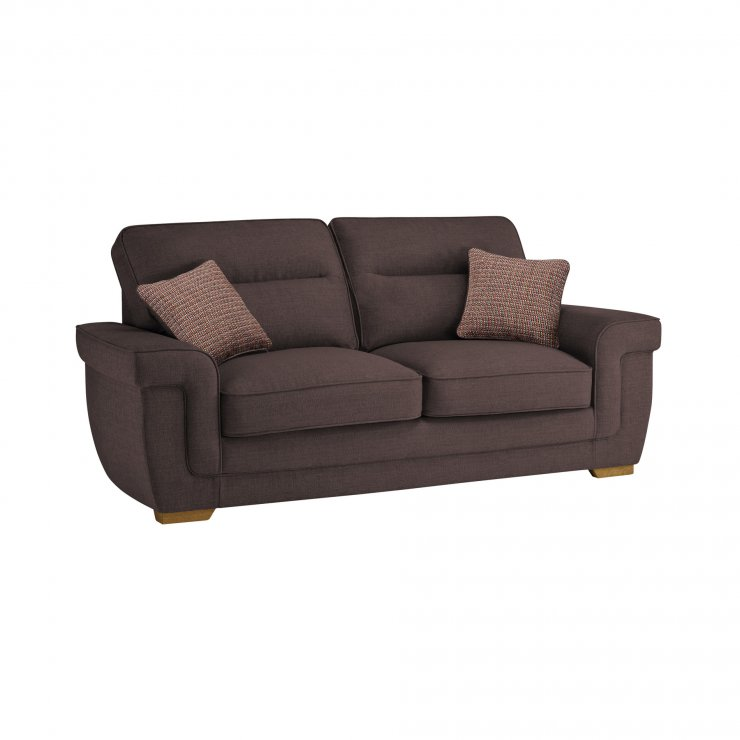 Kirby 3 Seater Sofa Bed with Deluxe Mattress in Barley Taupe