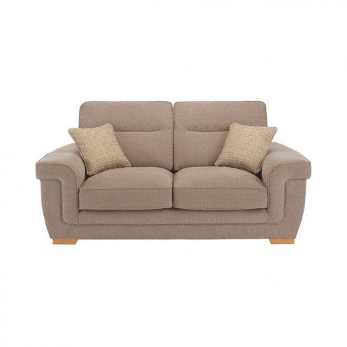 Kirby 2 Seater Sofa - Barley Beige with Rustic Oak Feet