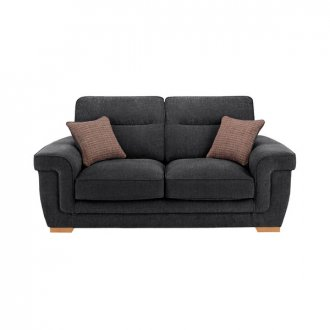 Kirby 2 Seater Sofa - Barley Graphite with Rustic Oak Feet
