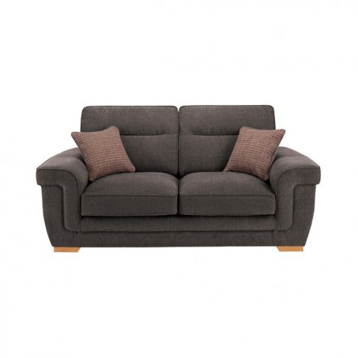 Kirby 2 Seater Sofa - Barley Grey with Rustic Oak Feet