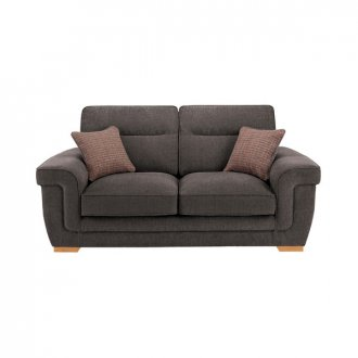 Kirby 2 Seater Sofa - Barley Grey with Rustic Oak Feet