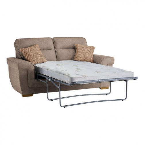 Kirby 2 Seater Sofa Bed with Deluxe Mattress in Barley Beige