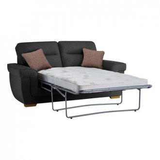 Kirby 2 Seater Sofa Bed with Deluxe Mattress in Barley Graphite