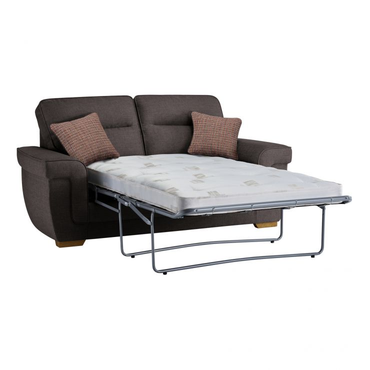 Kirby 2 Seater Sofa Bed with Deluxe Mattress in Barley Grey - Image 3
