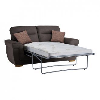Kirby 2 Seater Sofa Bed with Deluxe Mattress in Barley Grey