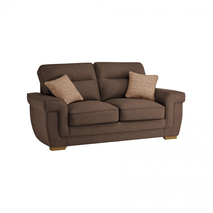 Kirby 2 Seater Sofa Bed with Deluxe Mattress in Barley Mocha