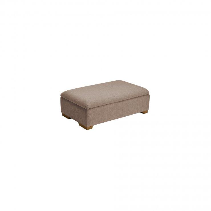 Kirby Storage footstool in Barley Beige