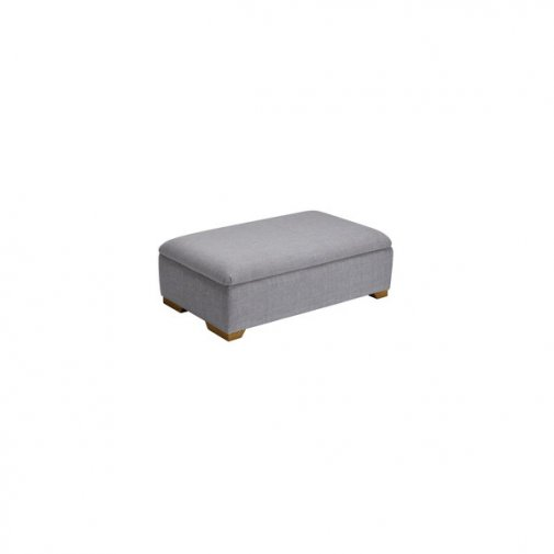Kirby Large Storage Footstool in Barley Silver