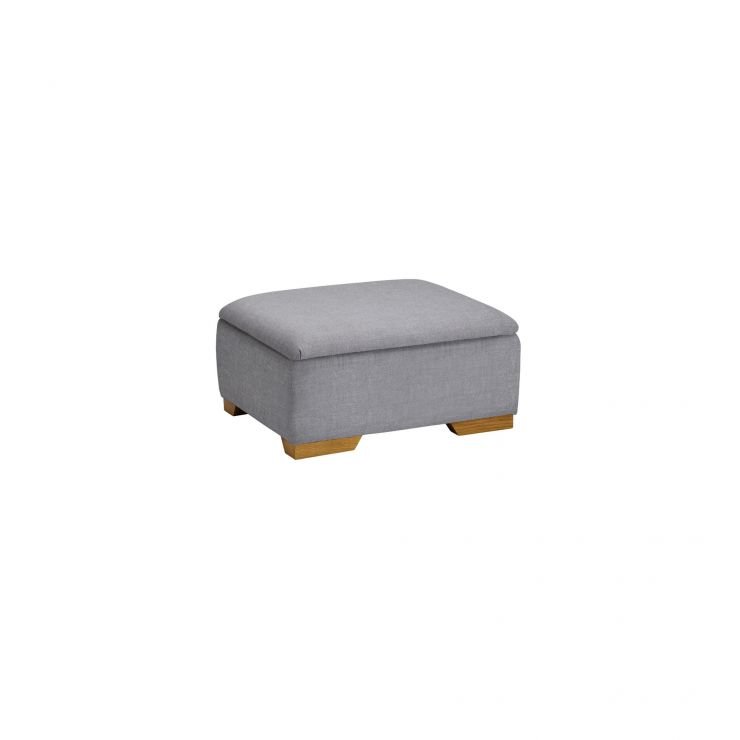 Kirby Storage Footstool in Barley Silver - Image 3