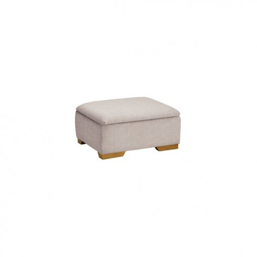 Kirby Storage Footstool in Frisco Silver