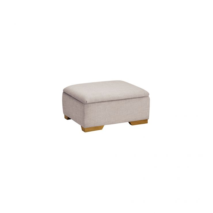 Kirby Storage Footstool in Frisco Silver - Image 2