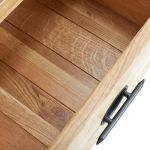 Kyoto Natural Solid Oak 5 Drawer Tallboy - Thumbnail 4