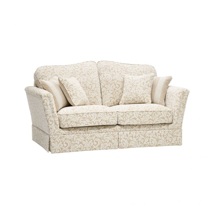 Lanesborough 2 Seater Sofa in Larkin Floral Beige Fabric - Image 6