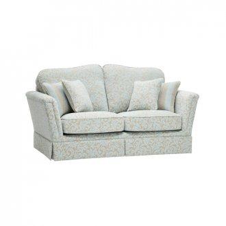 Lanesborough 2 Seater Sofa in Larkin Floral Duck Egg Fabric