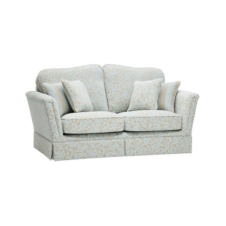Lanesborough 2 Seater Sofa in Larkin Floral Duck Egg Fabric - Image 6