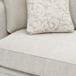 Lanesborough 2 Seater Sofa in Larkin Plain Cream Fabric - Thumbnail 6