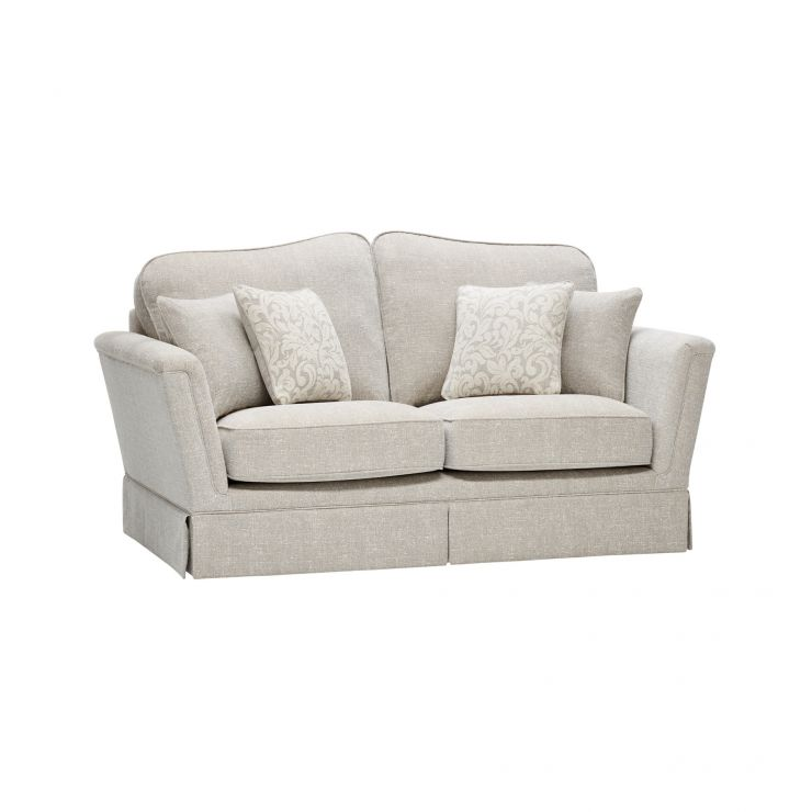 Lanesborough 2 Seater Sofa in Larkin Plain Cream Fabric - Image 6