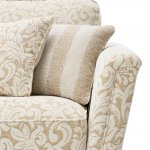 Lanesborough 3 Seater Sofa in Larkin Floral Beige Fabric - Thumbnail 5