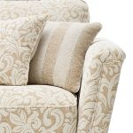 Lanesborough 3 Seater Sofa in Larkin Floral Beige Fabric - Thumbnail 5