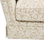 Lanesborough 3 Seater Sofa in Larkin Floral Beige Fabric - Thumbnail 6