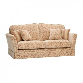 Lanesborough 3 Seater Sofa in Larkin Floral Cinnamon Fabric
