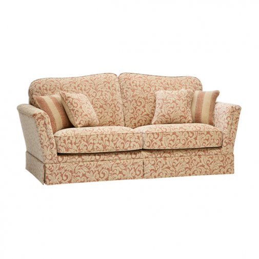 Lanesborough 3 Seater Sofa in Larkin Floral Cinnamon Fabric