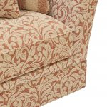Lanesborough 3 Seater Sofa in Larkin Floral Cinnamon Fabric - Thumbnail 4