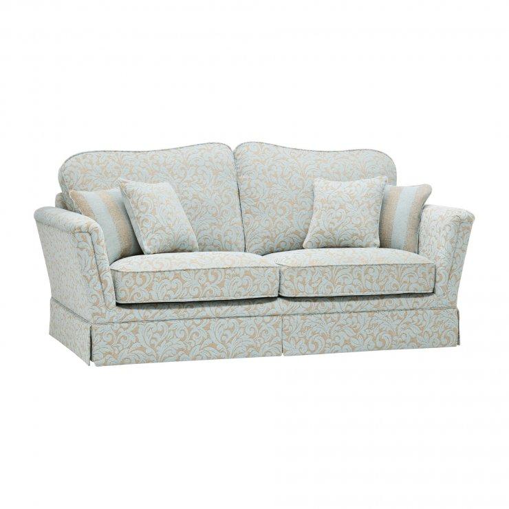 Lanesborough 3 Seater Sofa in Larkin Floral Duck Egg Fabric