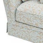 Lanesborough 3 Seater Sofa in Larkin Floral Duck Egg Fabric - Thumbnail 7