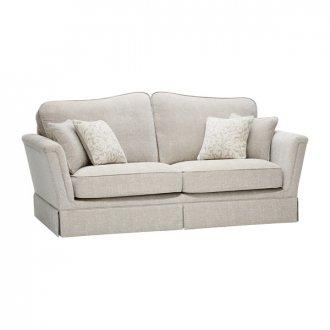 Lanesborough 3 Seater Sofa in Larkin Plain Cream Fabric