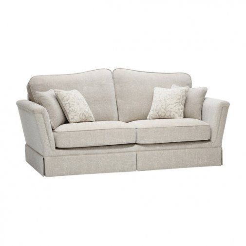 Lanesborough 3 Seater Sofa in Larkin Plain Cream Fabric