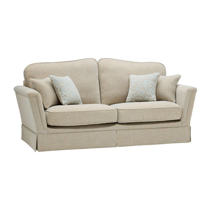 Lanesborough 3 Seater Sofa in Larkin Plain Duck Egg Fabric - Image 5