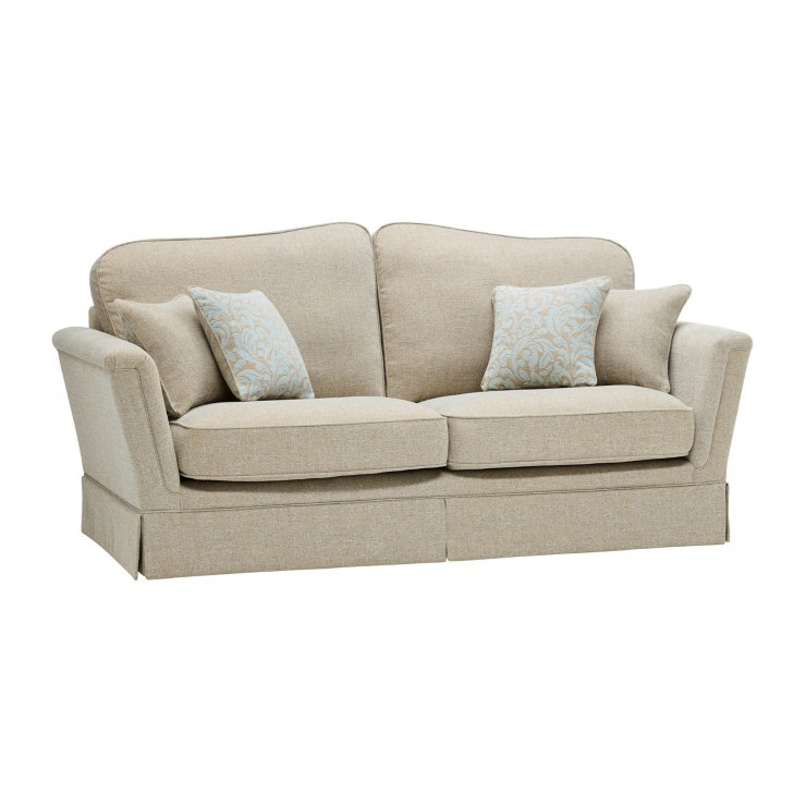 Lanesborough 3 Seater Sofa in Larkin Plain Duck Egg Fabric - Image 5