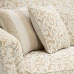 Lanesborough 4 Seater Sofa in Larkin Floral Beige Fabric - Thumbnail 4