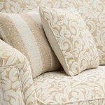 Lanesborough 4 Seater Sofa in Larkin Floral Beige Fabric - Thumbnail 4