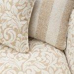 Lanesborough 4 Seater Sofa in Larkin Floral Beige Fabric - Thumbnail 6
