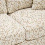 Lanesborough 4 Seater Sofa in Larkin Floral Beige Fabric - Thumbnail 5