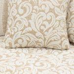 Lanesborough 4 Seater Sofa in Larkin Floral Beige Fabric - Thumbnail 7
