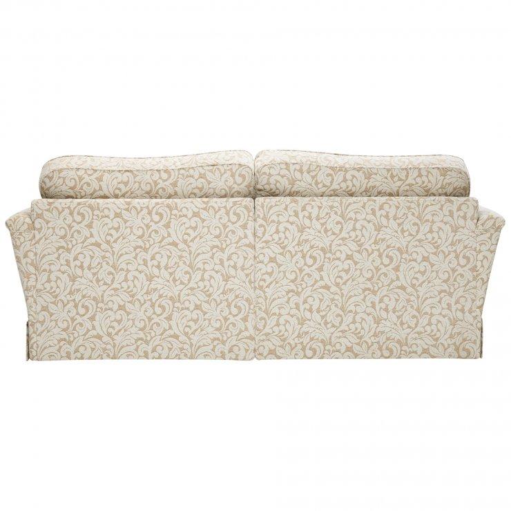 Lanesborough 4 Seater Sofa in Larkin Floral Beige Fabric