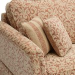 Lanesborough 4 Seater Sofa in Larkin Floral Cinnamon Fabric - Thumbnail 4