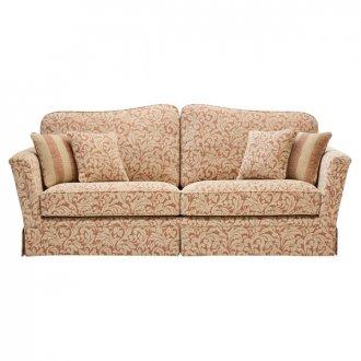 Lanesborough 4 Seater Sofa in Larkin Floral Cinnamon Fabric
