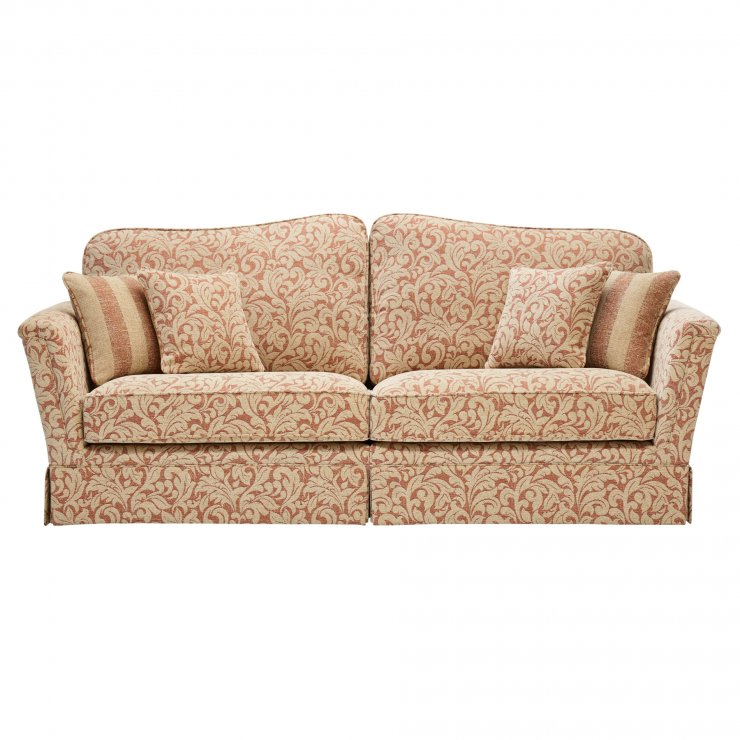 Lanesborough 4 Seater Sofa in Larkin Floral Cinnamon Fabric - Image 5