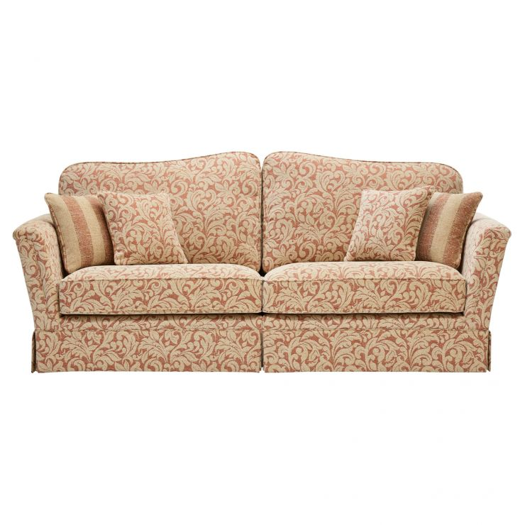 Lanesborough 4 Seater Sofa in Larkin Floral Cinnamon Fabric - Image 5