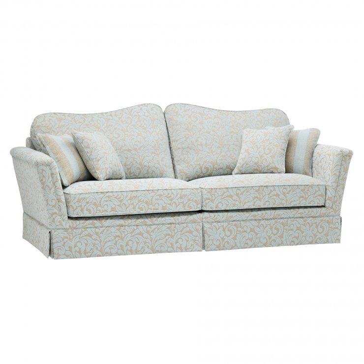 Lanesborough 4 Seater Sofa in Larkin Floral Duck Egg Fabric - Image 8