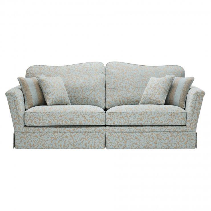 Lanesborough 4 Seater Sofa in Larkin Floral Duck Egg Fabric