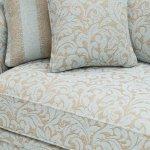 Lanesborough 4 Seater Sofa in Larkin Floral Duck Egg Fabric - Thumbnail 5