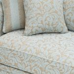 Lanesborough 4 Seater Sofa in Larkin Floral Duck Egg Fabric - Thumbnail 5