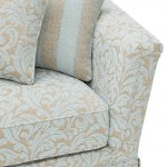 Lanesborough 4 Seater Sofa in Larkin Floral Duck Egg Fabric - Thumbnail 6