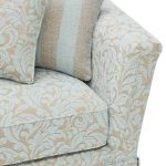 Lanesborough 4 Seater Sofa in Larkin Floral Duck Egg Fabric - Thumbnail 6