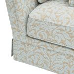 Lanesborough 4 Seater Sofa in Larkin Floral Duck Egg Fabric - Thumbnail 8